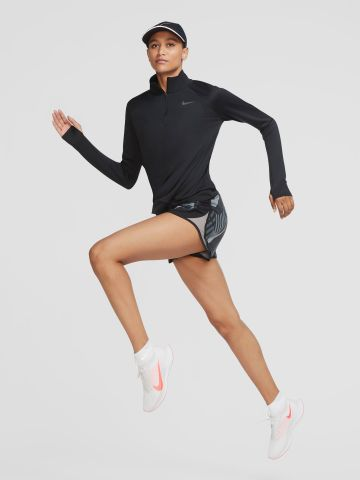 חולצת ריצה עם רוכסן ושרוולים ארוכים Pacer של NIKE