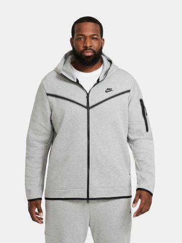 סווטשירט מלאנז' עם לוגו Tech Fleece של NIKE