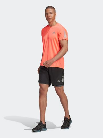 מכנסי ריצה קצרים עם טייץ פנימי של ADIDAS Performance