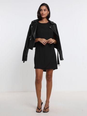 שמלה בגימור סאטן עם כריות כתפיים של TERMINAL X