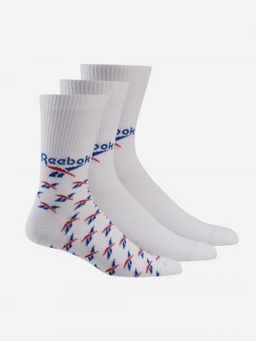 מארז 3 זוגות גרביים עם לוגו של REEBOK
