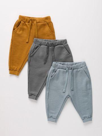 מארז 3 מכנסיים פרנץ' טרי בצבעים שונים / ילדים של TERMINAL X KIDS
