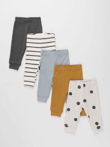 מארז 5 מכנסי ריב ארוכים / 0-4Y של TERMINAL X KIDS