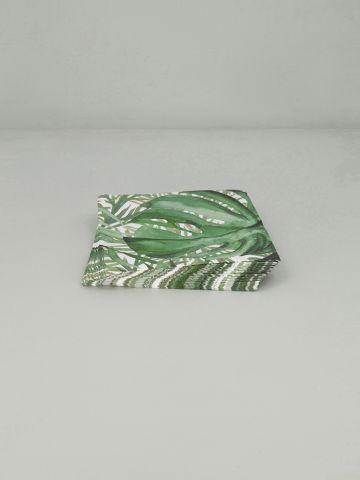 מפיות נייר בהדפס צמחים Green resort של FOX HOME