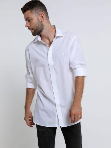 חולצה מכופתרת עם רקמת לוגו Slim של RALPH LAUREN