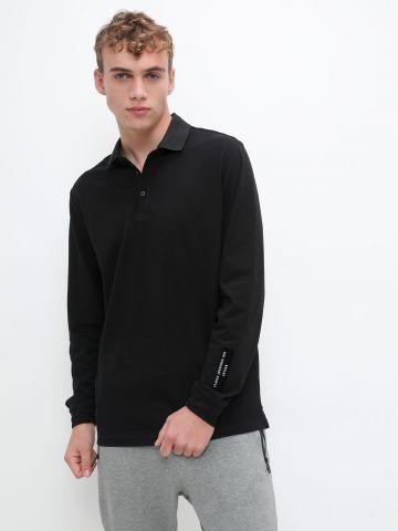 חולצת פולו עם שרוולים ארוכים של REPLAY