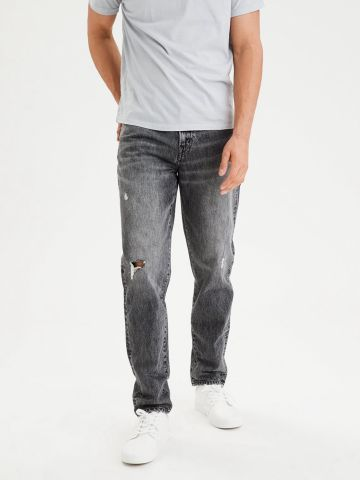 ג'ינס ווש ארוך עם קרעים של AMERICAN EAGLE