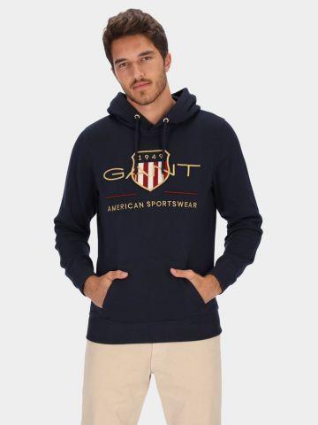 סווטשירט עם רקמת לוגו של GANT