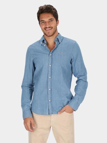 חולצה מכופתרת ג'ינס עם לוגו של GANT