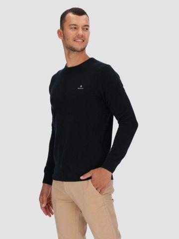 סוודר פיקה עם רקמת לוגו של GANT