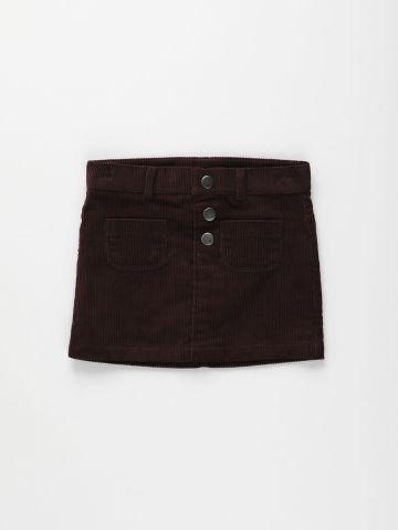 חצאית קורדורוי עם כפתורים / 6M-5Y של THE CHILDREN'S PLACE