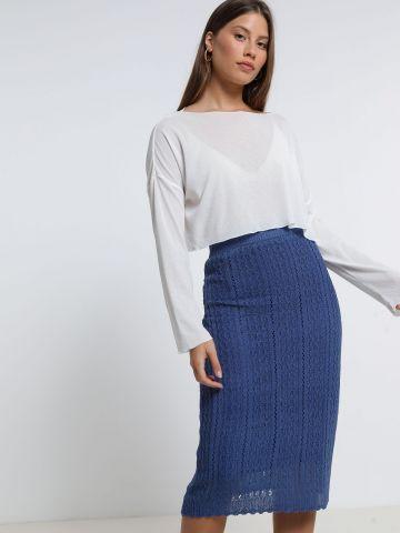 חצאית מידי סרוגה של YANGA