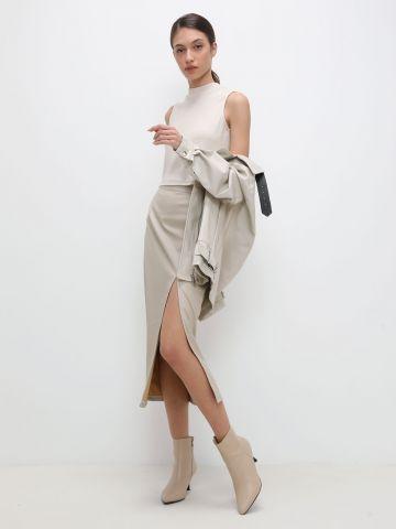 חצאית מידי דמוי עור של TERMINAL X