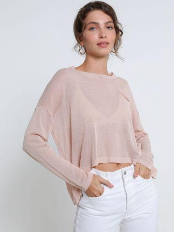 חולצת סריג שקפקפה אסימטרית של YANGA