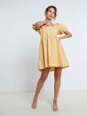 שמלת מיני עם שרוולים נפוחים של YANGA