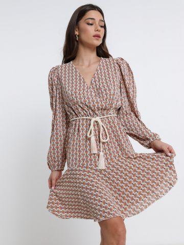 שמלת מיני פפלום שרוולים נפוחים של YANGA