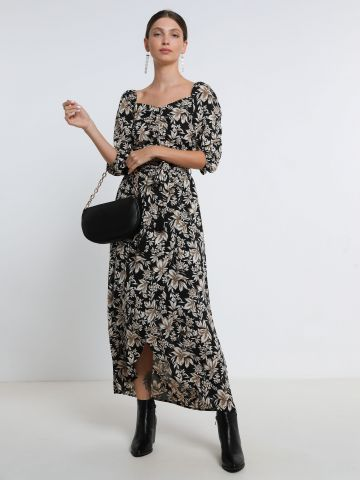 חצאית מקסי מעטפת בהדפס פרחים של YANGA