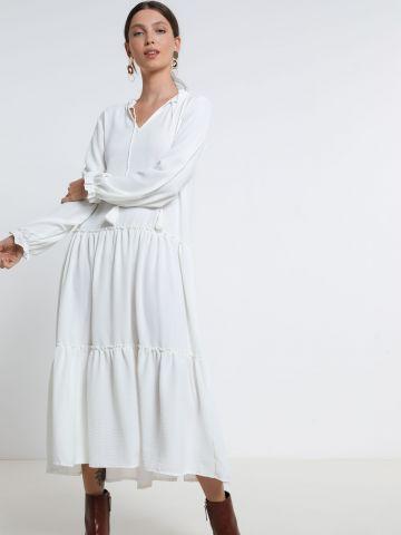 שמלת מידי קומות עם גדילים של YANGA