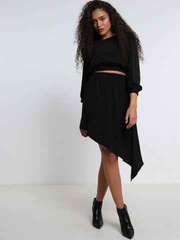 חצאית מידי אסימטרית של YANGA