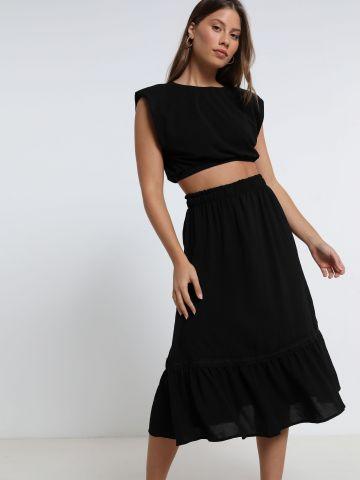 חצאית מידי פפלום של YANGA