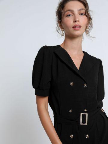 שמלת טרנץ' מידי עם כפתורים של YANGA