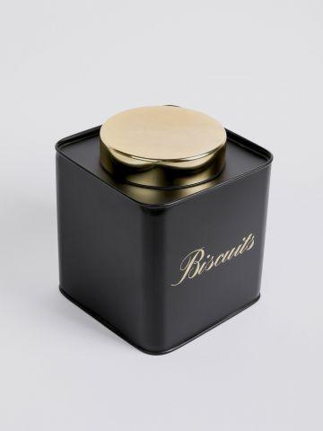 קופסת פח מרובעת Biscuits של FLORALIS