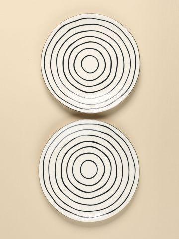 מארז 2 צלחות בדוגמת עיגולים של FLORALIS
