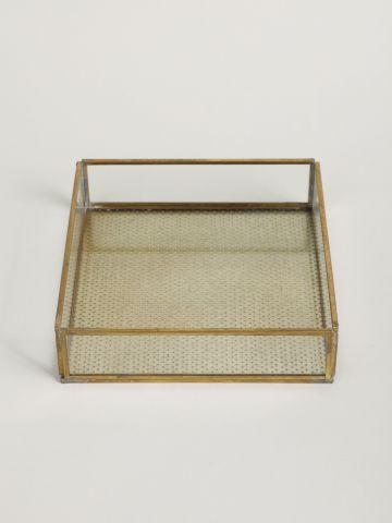 קופסת זכוכית מרובעת של FLORALIS