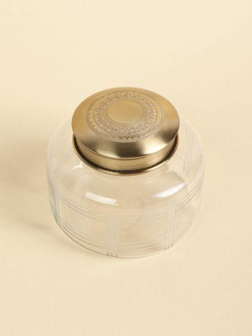 צנצנת זכוכית מעוצבת של FLORALIS