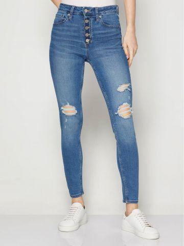 ג'ינס סקיני עם קרעים של GAP