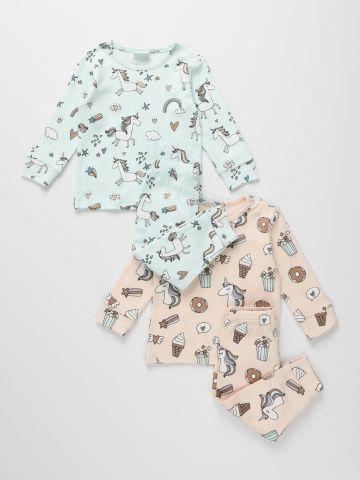 מארז 2 חליפות פיג'מה חד קרן / 6M-10Y של TERMINAL X KIDS