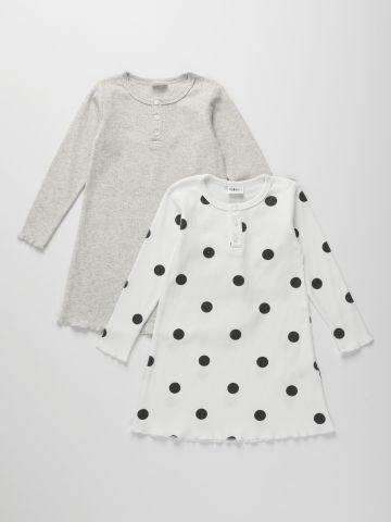 מארז 2 שמלות פיג'מה ריב / 2Y-10Y של TERMINAL X KIDS