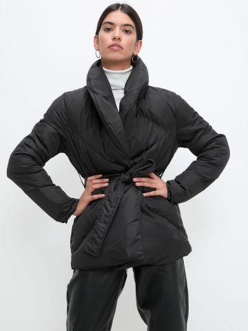 מעיל קווילט עם חגורת קשירה של TERMINAL X