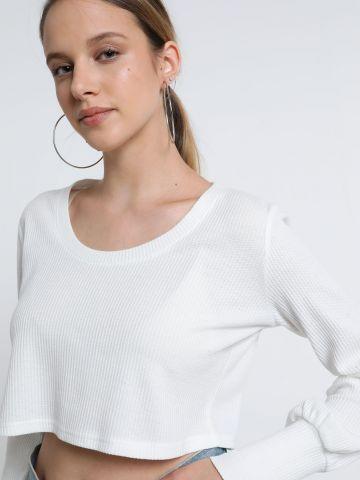 חולצת קרופ וופל של TERMINAL X