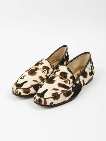 נעלי מוקסין מעור בהדפס פרה Loraine / נשים של SAM EDELMAN