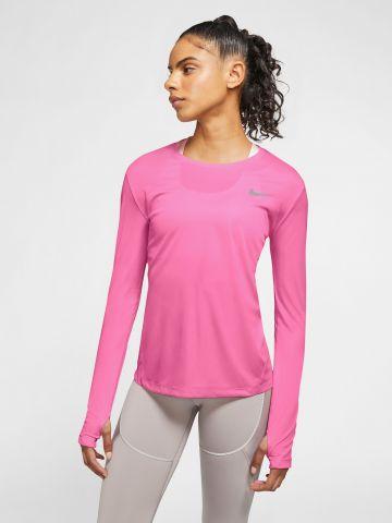 טי שירט ריצה Dri-Fit עם לוגו מחזיר אור Nike Miler של NIKE