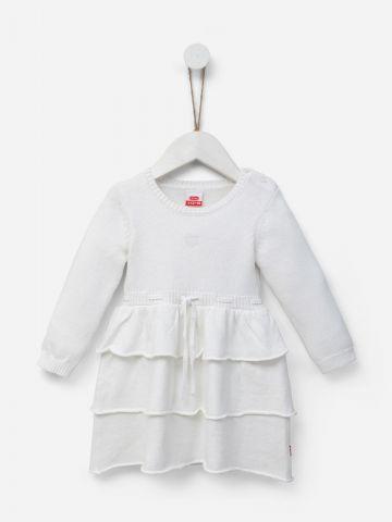 שמלת שכבות סרוגה עם רקמת לב / 0-24M של SHILAV