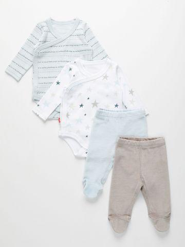 מארז בגדי גוף ומכנסי טרנינג / 0M-12M של SHILAV