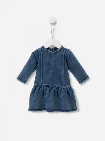 שמלת דמוי ג'ינס ווש / 0M-5Y של SHILAV