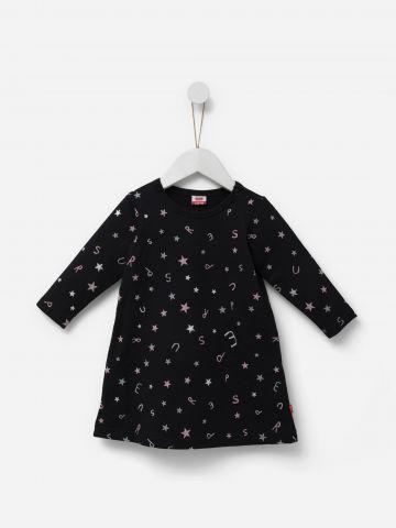 שמלה בהדפס כוכבים / 6M-24M של SHILAV