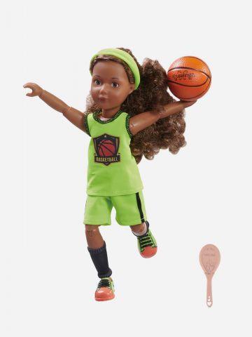 בובת קרוזלינגס ג'וי מתאמנת בכדורסל של TOYS