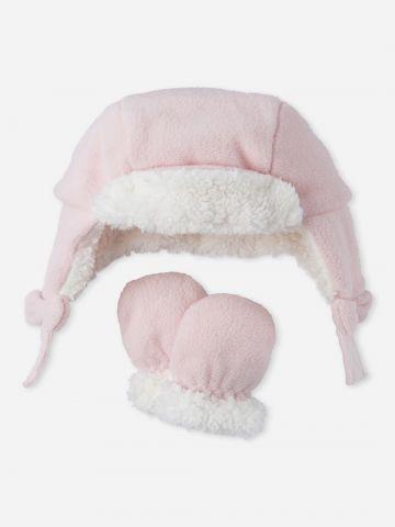 כובע גרב דמוי צמר עם כפפות / 0-18M של THE CHILDREN'S PLACE