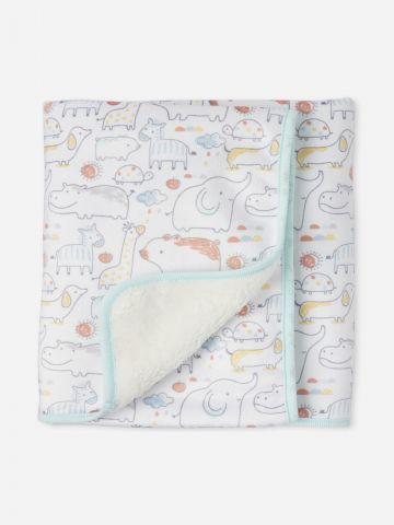 שמיכה פרוותית בהדפס חיות / בייבי של THE CHILDREN'S PLACE
