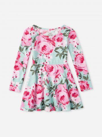 שמלה קצרה בהדפס פרחים / 6M-5Y של THE CHILDREN'S PLACE