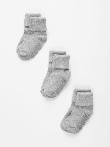 מארז 3 זוגות גרביים עם קיפול / 6M-4Y של THE CHILDREN'S PLACE