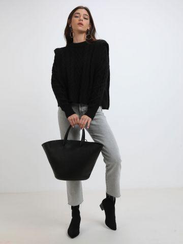 סוודר עם כריות כתפיים של TERMINAL X