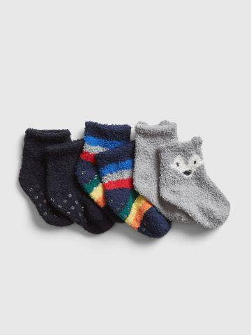 מארז 3 זוגות גרביים פלפי / בייבי בנים של GAP
