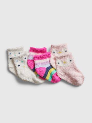 מארז 3 זוגות גרביים פלפי / בייבי בנות של GAP