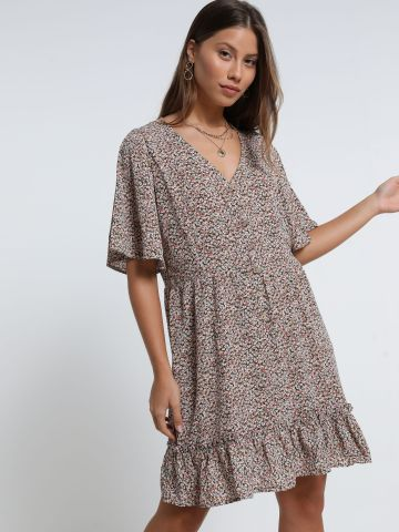 שמלת מיני פפלום בהדפס פרחים של YANGA