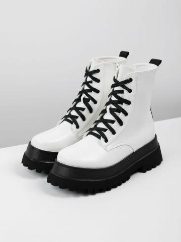 מגפיים דמוי עור בסגנון צבאי / נשים של RAID